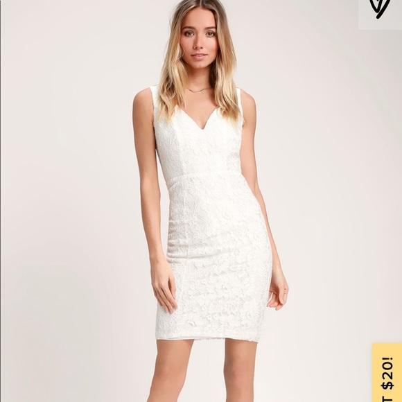 Lulu's Dresses & Skirts - White lace LuLus Dress!